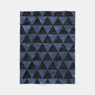 TRIANGLE3 BLACK MARBLE & BLUE STONE FLEECE BLANKET