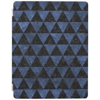 TRIANGLE3 BLACK MARBLE & BLUE STONE iPad COVER