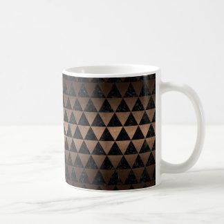 TRIANGLE3 BLACK MARBLE & BRONZE METAL COFFEE MUG