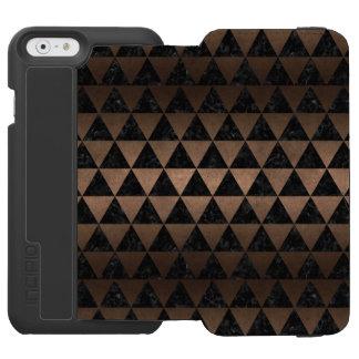 TRIANGLE3 BLACK MARBLE & BRONZE METAL INCIPIO WATSON™ iPhone 6 WALLET CASE