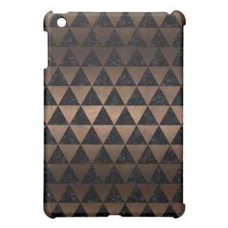 TRIANGLE3 BLACK MARBLE & BRONZE METAL iPad MINI COVER