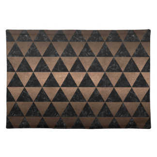 TRIANGLE3 BLACK MARBLE & BRONZE METAL PLACEMAT