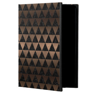 TRIANGLE3 BLACK MARBLE & BRONZE METAL POWIS iPad AIR 2 CASE