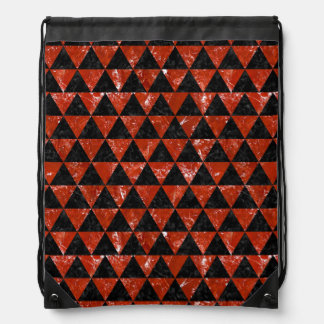 TRIANGLE3 BLACK MARBLE & RED MARBLE DRAWSTRING BAG