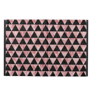 TRIANGLE3 BLACK MARBLE & RED & WHITE MARBLE CASE FOR iPad AIR