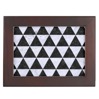 TRIANGLE3 BLACK MARBLE & WHITE MARBLE MEMORY BOXES