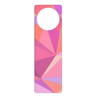 Triangle abstract door knob hangers