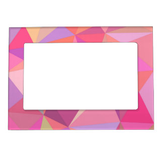 Triangle abstract magnetic picture frame