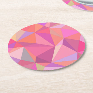 Triangle abstract round paper coaster