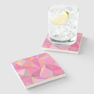Triangle abstract stone beverage coaster