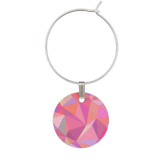 Triangle abstract wine charm