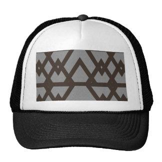 Triangle and Diamond Gray Pattern Cap