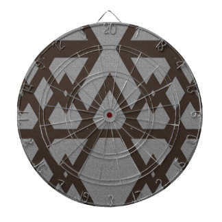 Triangle and Diamond Gray Pattern Dartboard