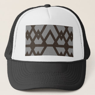 Triangle and Diamond Gray Pattern Trucker Hat