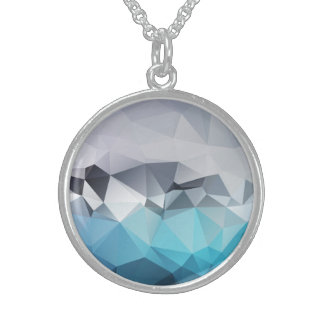 Triangle Art Sterling Silver Round Necklace