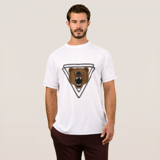 Triangle Brown Bear  Men's Champion Double Dry Mes T-Shirt