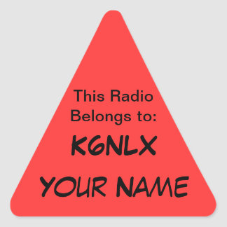 Triangle Call Sign Radio Stickers
