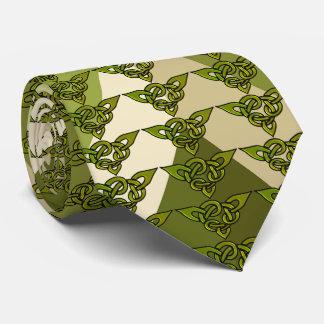 Triangle Celtic Knot Repeat Over Jumbo Zigzag Tie
