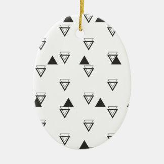 triangle ceramic oval decoration