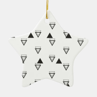 triangle ceramic star decoration