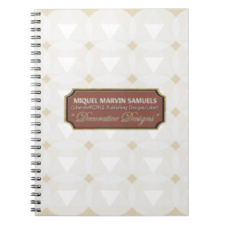 Triangle Circle Decorative White Notebook