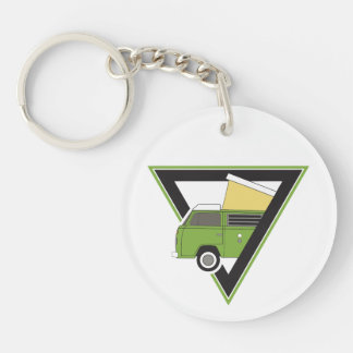 triangle classic green bus key ring