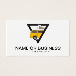 triangle classic yellow bus business card