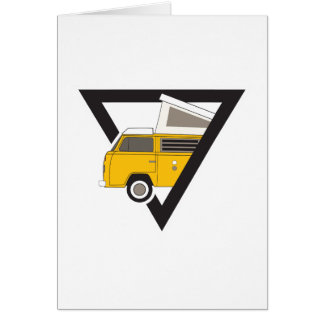 triangle classic yellow bus card