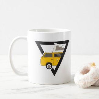 triangle classic yellow bus coffee mug