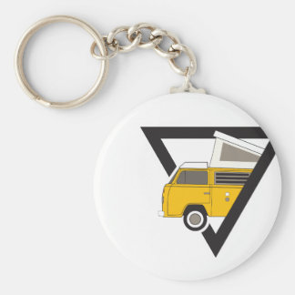 triangle classic yellow bus key ring