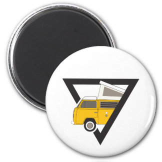 triangle classic yellow bus magnet