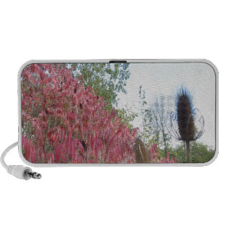 Triangle Colorful Nature Print Goodluck warm fall iPod Speakers