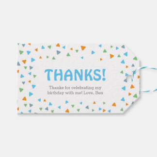 Triangle Confetti Thank you tags | Favour tags