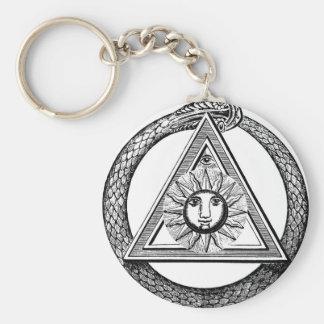 Triangle Freemason Snake Key Ring