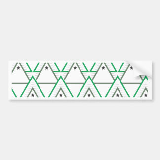 triangle galaxy bumper sticker