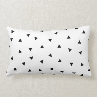 triangle geo rectangle shape // black + white lumbar cushion