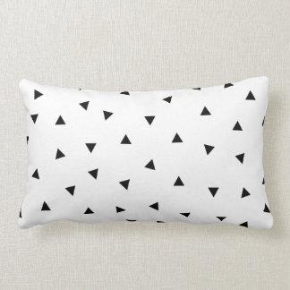 triangle geo rectangle shape // black + white lumbar cushion