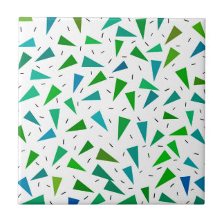 Triangle geometric, modern pattern ceramic tile