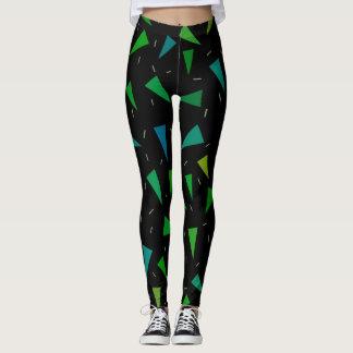 Triangle geometric, modern pattern leggings