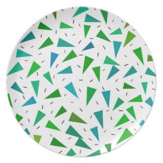 Triangle geometric, modern pattern plate
