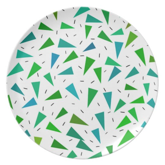 Triangle geometric, modern pattern plate