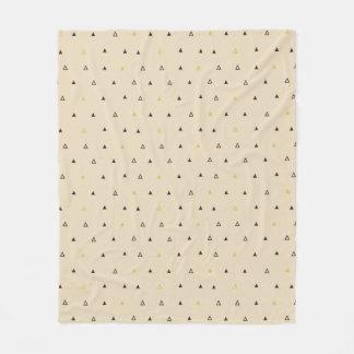 Triangle geometric pattern cream Fleece blanket