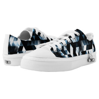 Triangle Geometric Vibrant Blue Smoky Galaxy Low Tops