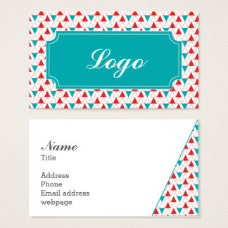 Triangle geometry design business card