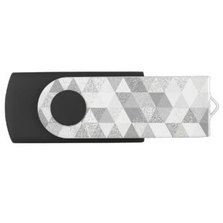 Triangle grunge pattern II + your ideas USB Flash Drive
