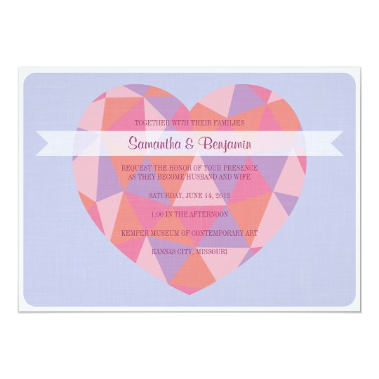 Triangle Heart Wedding Invitation