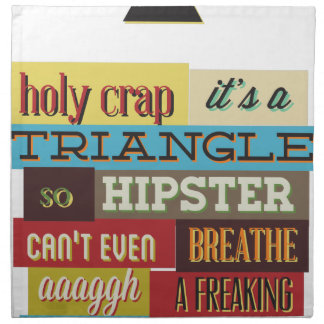 triangle hipster and breath napkin