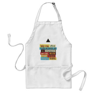 triangle hipster and breath standard apron