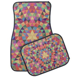 Triangle mandala 1 car mat