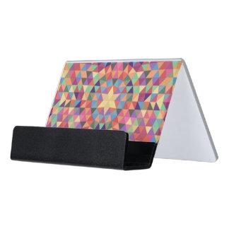 Triangle mandala 1 desk business card holder